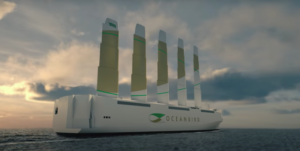 OceanBird shows how modern sail technology can be used in hybrid ship designs.